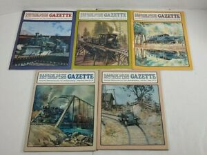 Narrow-Gauge-And-Short-Line-Gazzette-Lot-Of-5-1989-Modelbuilding-Magazines