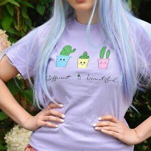 Tres-mignon-cactus-T-Shirt-kawaii-Unisexe-Femme-Surdimensionne-Harajuku-par-Momokakkoii