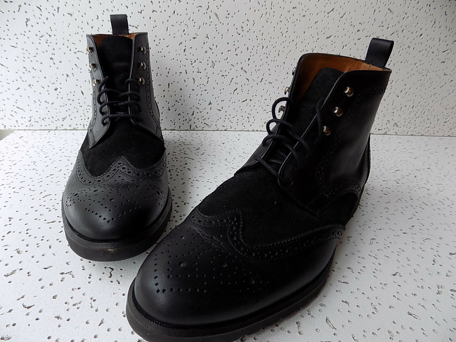 Rooster dress League Military Brogue dress Rooster boots, calf leather & suede, US 9.5, EU 42 19b736
