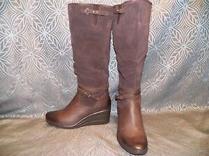 Image is loading New-Womens-UGG-Lesley-Stout-Brown-Waterproof-Leather- 074ab9d01acf