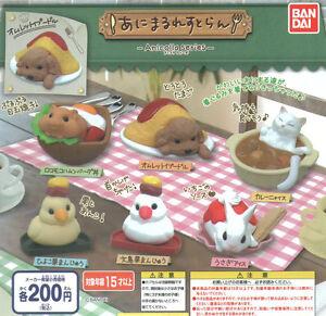 Anicolla Animal Restaurant Poodle Cat Hamster Rabbit Chick / Sparrow 5 Pcs Set