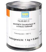 1 kg WARNEX 25,49€/kg Strukturfarbe schwarz sw halbmatt Strukturlack Boxenfarbe