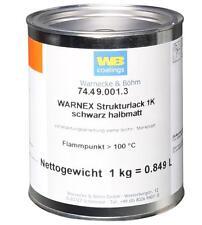1kg WARNEX 25,49€/kg Strukturfarbe schwarz halbmatt Strukturlack Struckturlack