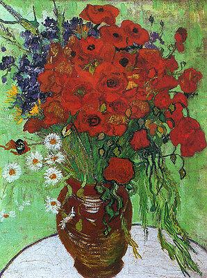 Vincent Van Gogh Butterflies and Poppies 1890 Vintage Print