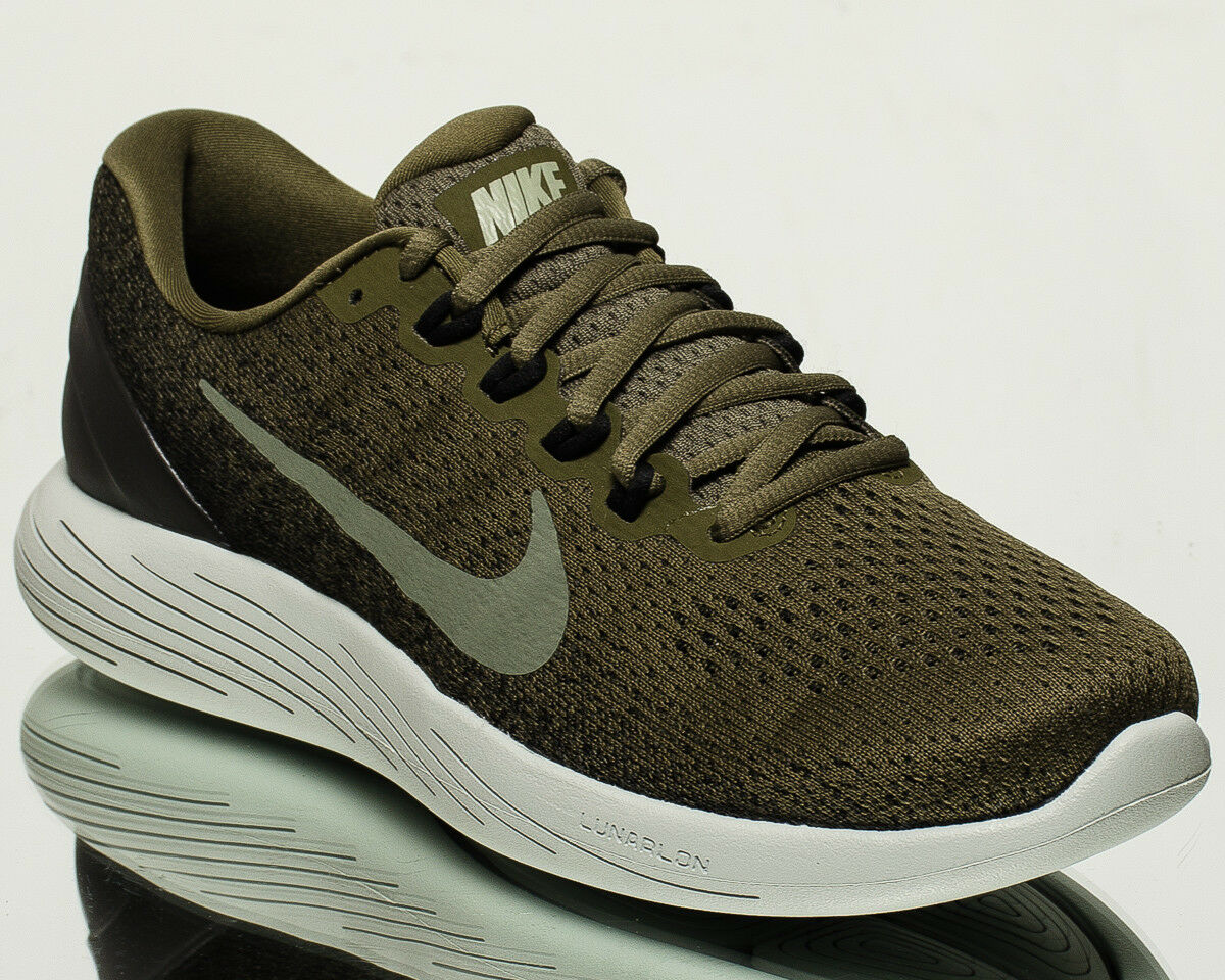 Nike LunarGlide 9 IX men running run shoes NEW medium olive stucco 904715-200