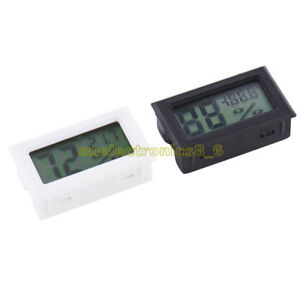 Black-White-Digital-LCD-Thermometer-Hygrometer-Humidity-Temperature-Meter-Indoor