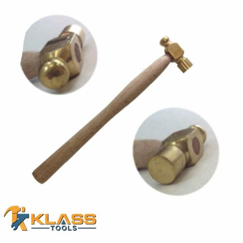 Brass Head Forming Hammer with Wooden Handle 4 oz