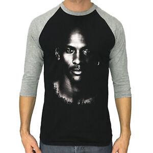 Michael Jordan shirt men 3 4 Sleeve baseball Raglan T-shirt S to 2XL ... 850e818a6