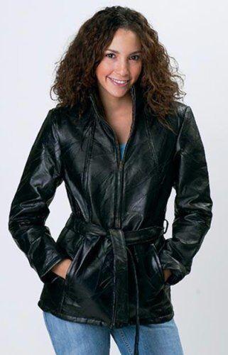 4 ceinture Maxam femmes Veste avec pour Mosaic en Design 3 Italian d'agneau cuir peau en wHSHU6q