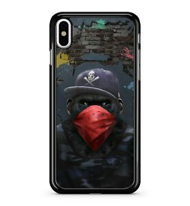Gangster-Dangerous-Scimmia-Rosso-Balaclava-Divertente-Thug-Vita-Telefono-Cover