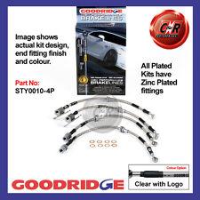 /& Turbo Braided Brake Kit Lines Hoses SW20 Goodridge For Toyota MR2