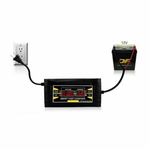 12V 6A Car Battery Charger Lead Acid LCD Motorcycle Intelligent Display US EU