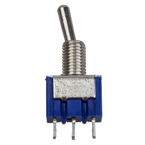 New 4 Pcs Blue AC 125V 6A 3 Pin SPDT On//Off//On 3 Position Mini Toggle Switch AD