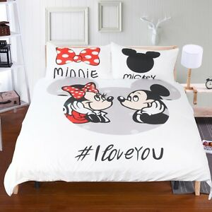image is loading mickey mouse bedding set disney cartoon love duvet - Mickey Mouse Bedding