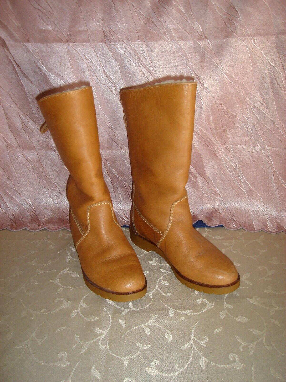 Camel Stiefel Damen Schuhe,Stiefel,Winterstiefel, Echtes Leder, Gefüttert Gr.40