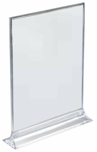 Lot of 10 8.5 x 11-8 1//2 x 11-2-Sided Acrylic Sign Holder L@@K!
