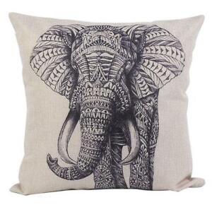 Hot Cartoon Animal Style Elephant Throw Pillow Case Decor Cushion Covers Square eBay