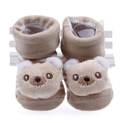 1pair Newborn Soft Sole Cotton Doll Baby Anti-slip Indoor Warm Sock Shoe Booties