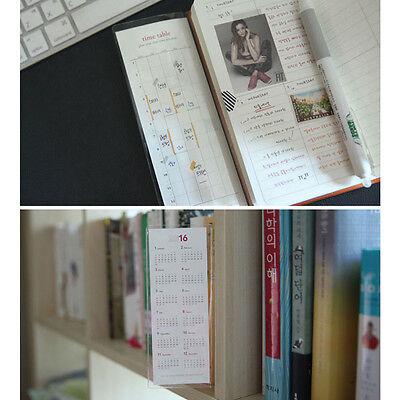 Paper Holder Long -  2.5 x 6 Inch PVC Sticky Pocket - Calendar / Checklist Slot