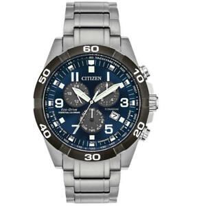 Citizen-BL5558-58L-Men-039-s-Titanium-Brycen-Chronograph-Eco-Drive-Watch