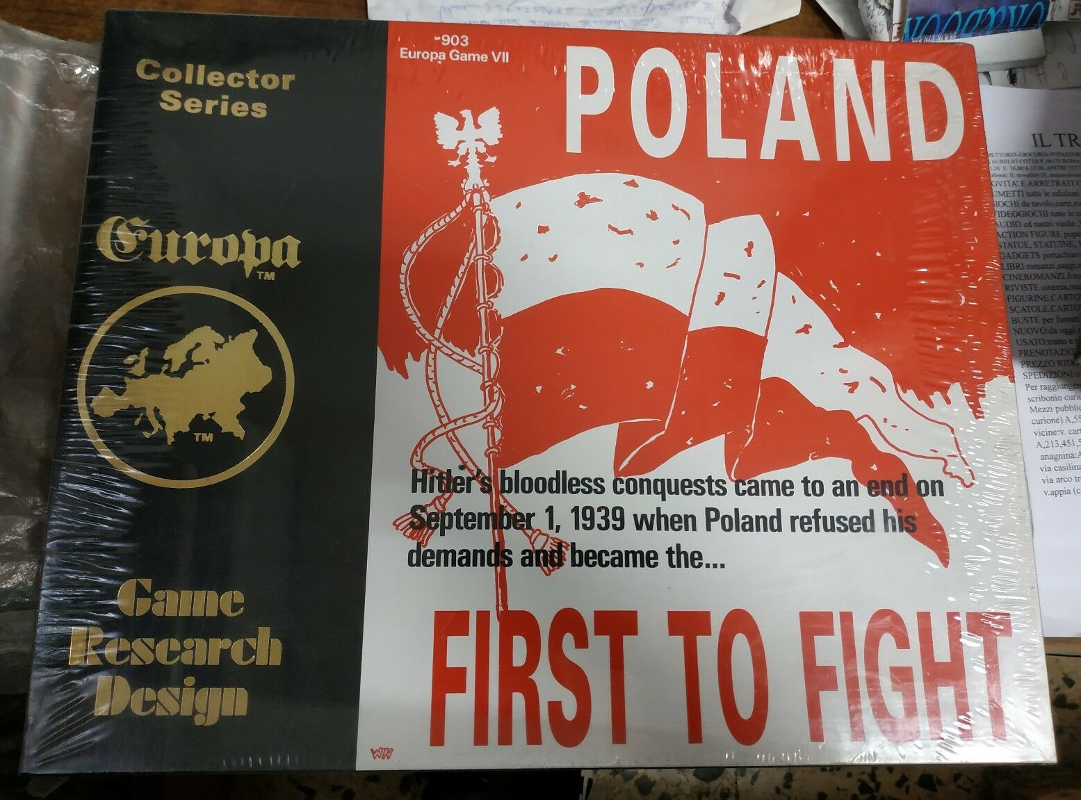 Poland First to Fight 903 Europa Game Game Game VII GRD Collector Series Game Designers' a07de4