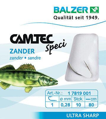 gebundene Zander oder Wurmhaken von Camtec Balzer  Vorfach 80cm oder 60cm