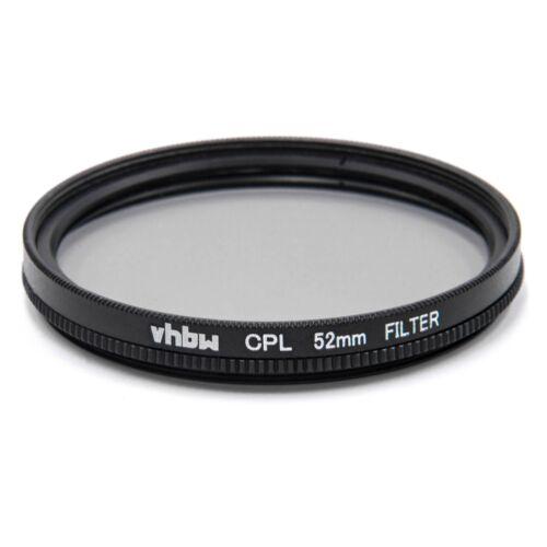 CPL Filter Polarisationsfilter Innen und Außengewinde 52mm Objektivgewinde