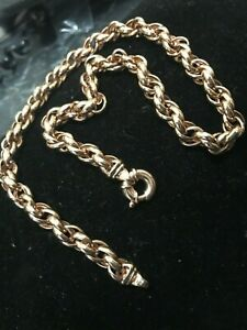 9ct-Solid-Rose-Gold-Twist-Rope-Necklace-Chain-48-8gm-Val-5856-Ref-161129P