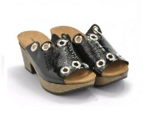 FRAU-57S5-ciabatta-donna-naplack-nero-borchie-sughero-made-in-Italy