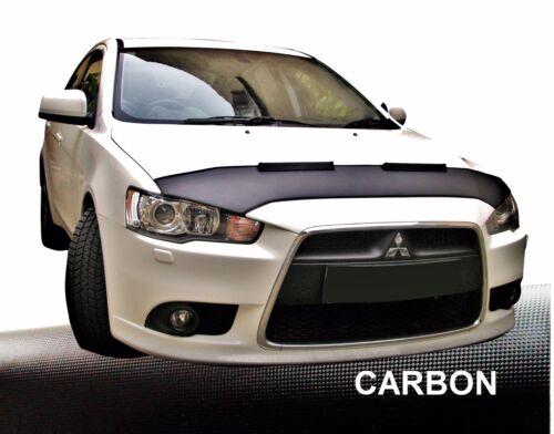 Hood Bra for Mitsubishi Lancer 8 since 2007 Car Bra Stone Chip Protection Carbon