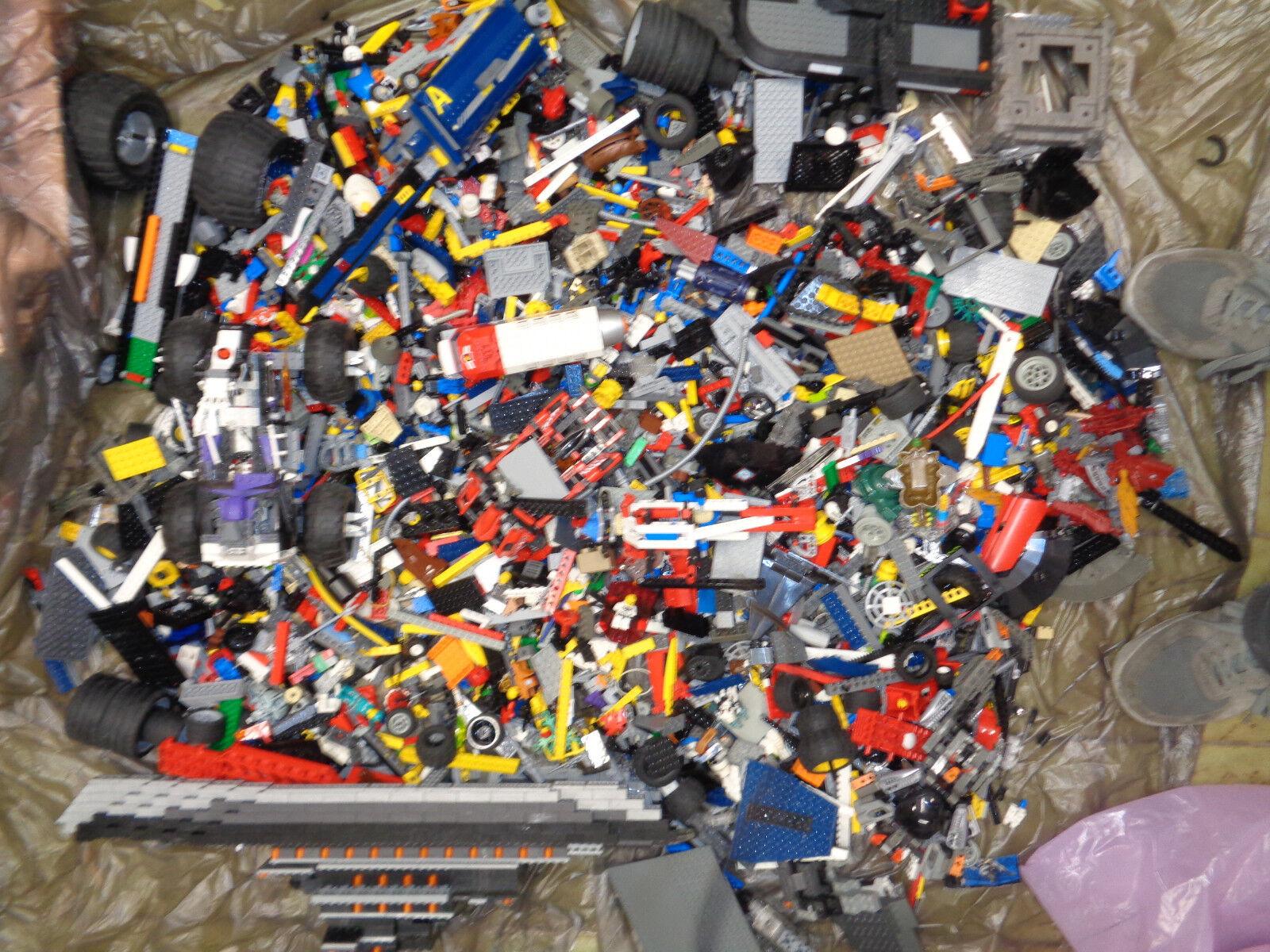 Lotto misto LEGO 10,5  KG-mattoncini minifigure ruote altro --z35
