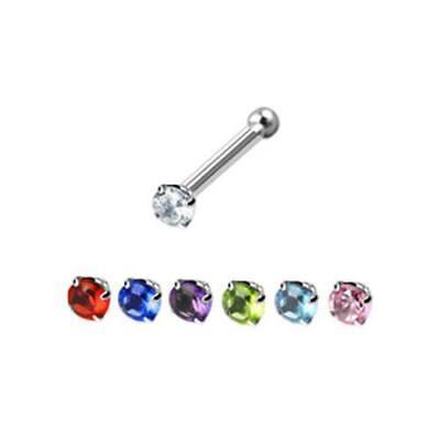 60Pcs Acero Inoxidable Studs de Nariz Anillos Piercing Pin Para Joyería Del K3Y1