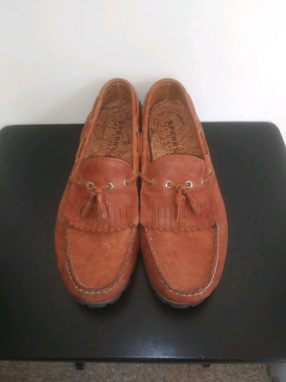 Sperry Top Sider Mens 13  Leather Slip On Tassel Loafer Boat shoes 0735308