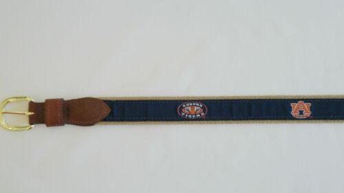 ZEP PRO University of Auburn Tigers Leather Canvas Embroidered Ribbon Belt