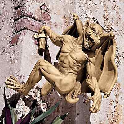 New Gaston Gothic Gargoyle Garden Statue Hanging Garden Ornaments Statues Unique
