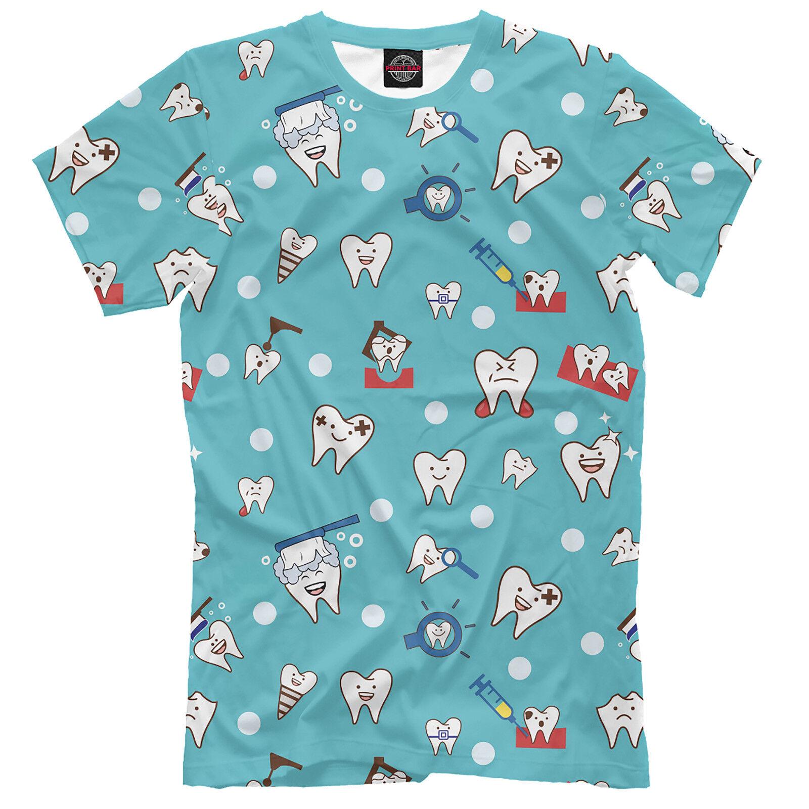 Men's T-shirt - Dentist profession - Teeth - High quality - NEW - ts1005