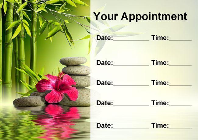 Beauty spa massage carte salon personnalisé carte massage de rendez-vous 5a00fd