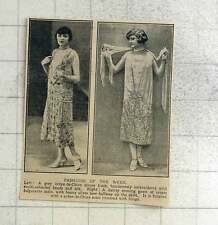 1925 Fashions Of The Week, Dinner Frock, Evening Gown