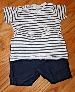 db1d40f16 Burberry Children Toddler Boys Blue Striped Shirt & Shorts Outfit Sz ...