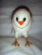 New Pin Felt Needle Felted Collectible Standing Owl Figure Gift Present Ornament