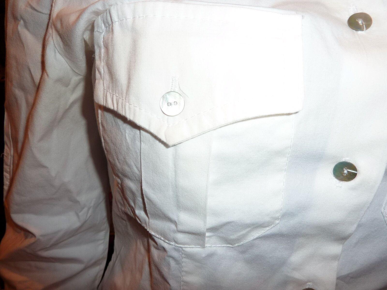 Contatto Italian button down white stretch cotton… - image 12