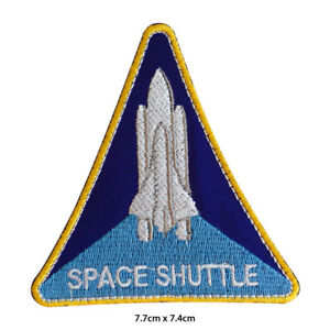NASA USA Space Shuttle Embroidered Patch Iron on Sew On Badge For Clothes etc