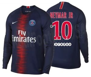 best service 9d9cd eccfb Details about NIKE NEYMAR JR PARIS SAINT-GERMAIN PSG LONG SLEEVE HOME  JERSEY 2018/19.