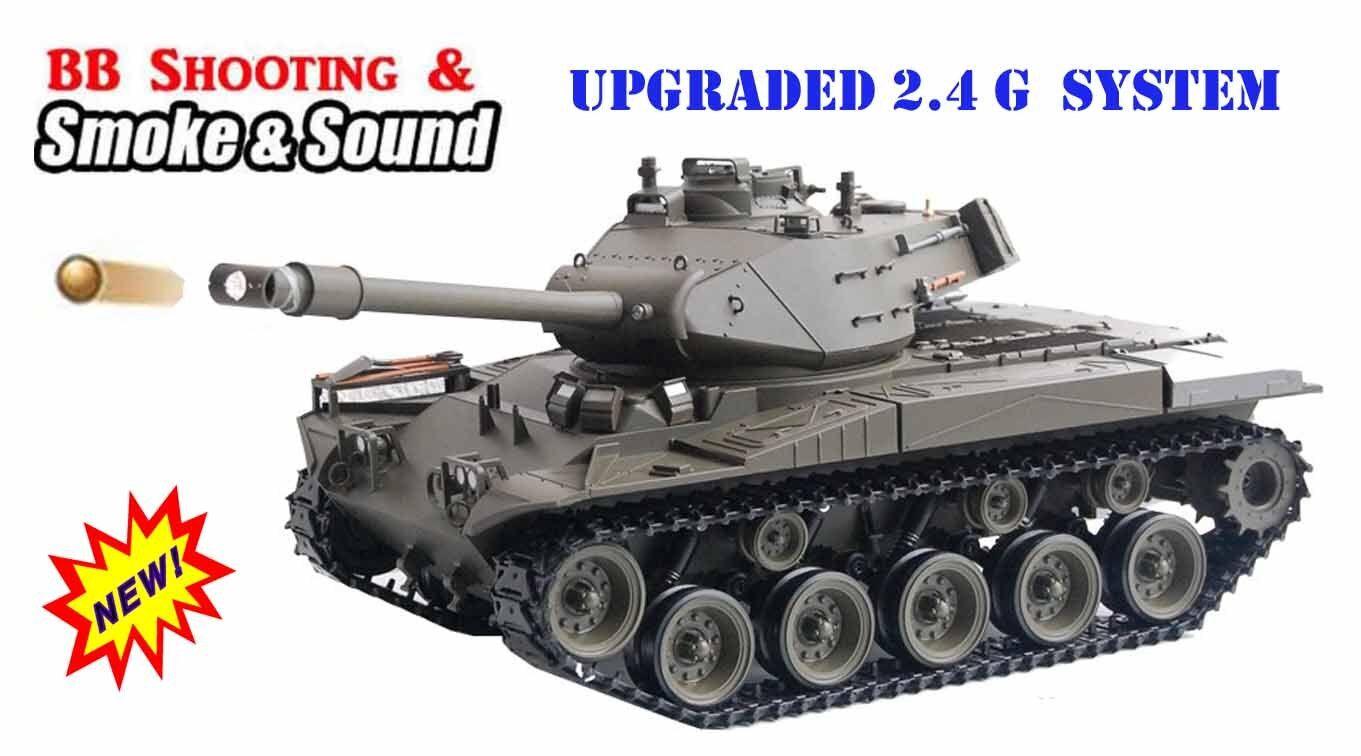 Radio Control Remoto RC Batalla Tanque 1 16 Heng Largo Walker Bulldog 2.4G