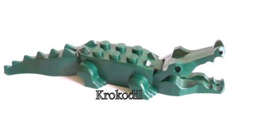 1 x LEGO® °6026//6027//6028 Tier,Krokodil dunkel grün° gebraucht