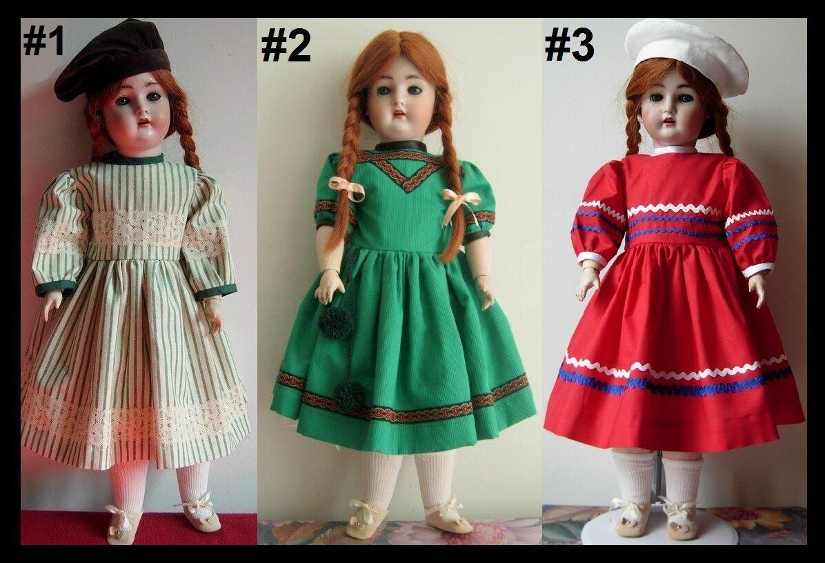 Robe Robe Robe poupée ancienne SFBJ Jumeau Kestner Halbig Heubach dress antique doll f4b168