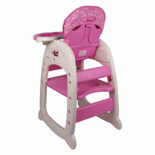 New Mamakids 3 in 1 Baby High Chair Convertible Play Table Seat Booster Toddler