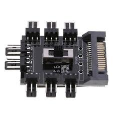 SATA 1 to 8 Multi Way Splitter pc Fan power cable Hub 3p12V PCB 2 Level Speed