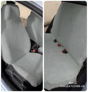 SKODA FABIA CAR SEAT COVERS-GOLD LEOPARD FAUX FUR-FULL SET