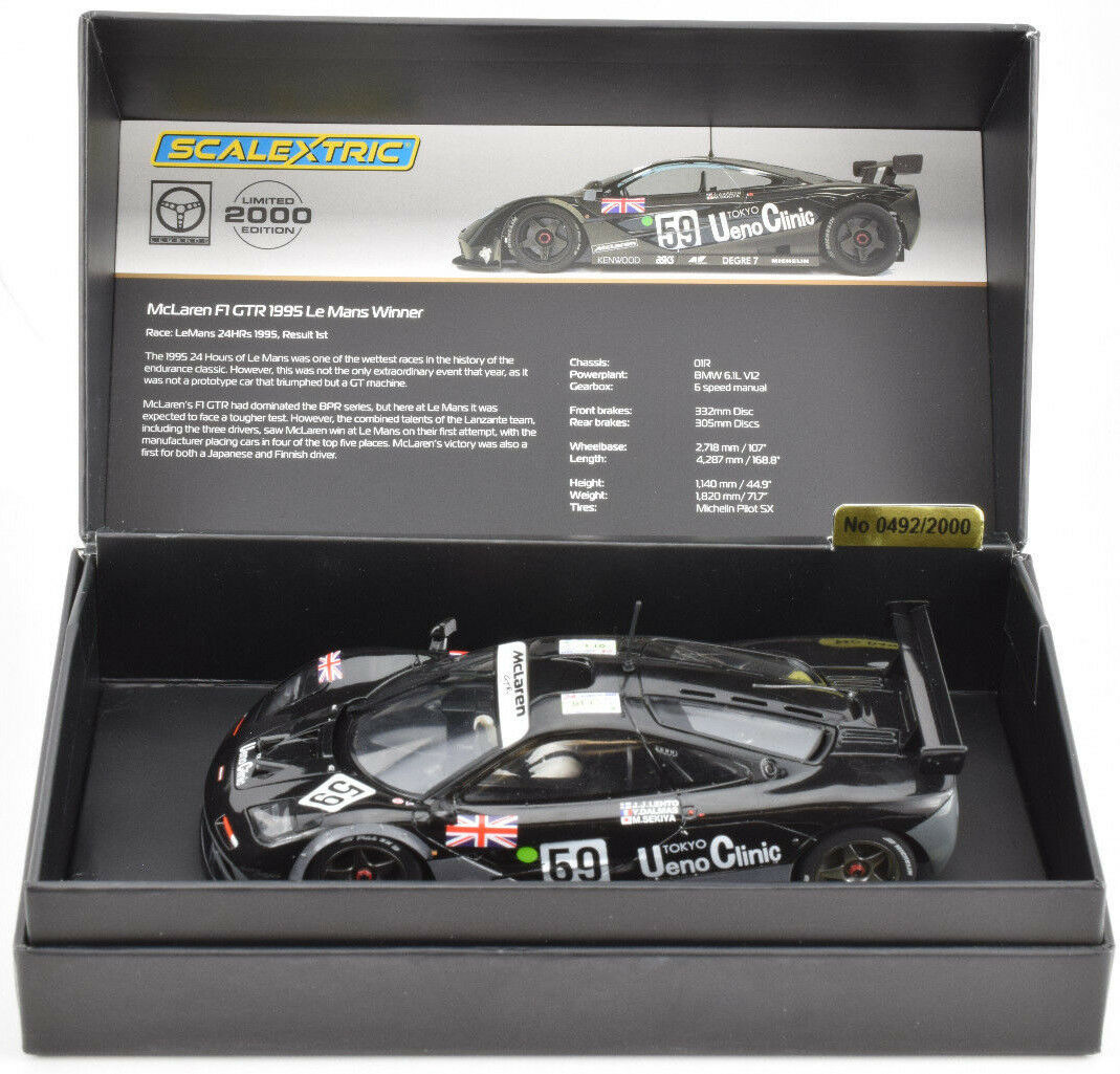 Scalextric McLaren F1 GTR - 1995 LE Mans DPR W  Lights LE 1 32 Slot Car C3965A